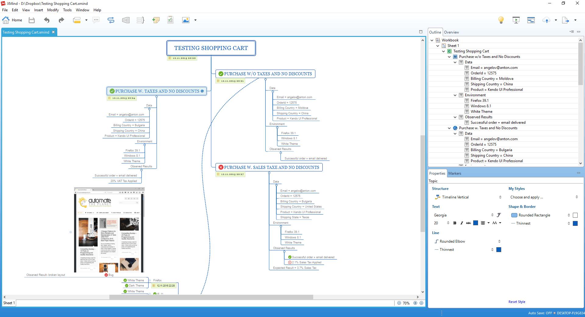 XMind Document Exploratory Testing