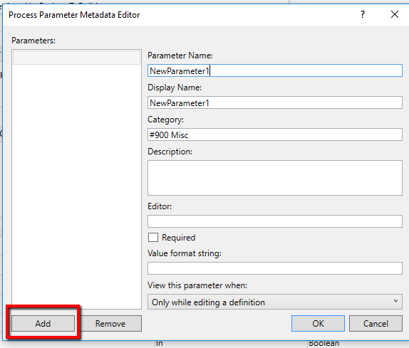 Metadata Default View TFS Build Template
