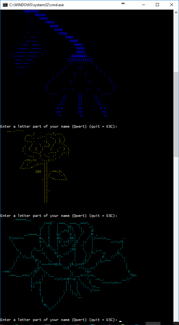 Geeks Gifts: Surprise a Girl with ASCII Art Flowers Program