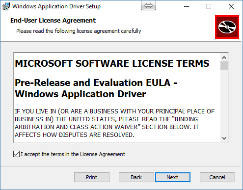 Install WinAppDriver